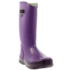 BOGS Rainboot Soft Natural Rubber Womens Gumboots With Pull Handles in Plum