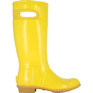 BOGS Frankie Tall Handles Womens Lightly Insulated Gumboots in Yellow