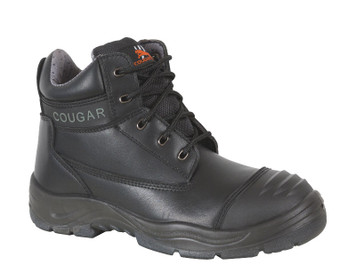 Cougar zip sided lace up safety boots with toe cap 216B