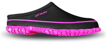 Otway Stroller Insulated Ladies Waterproof Clog in Black and Purple