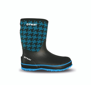 Otway Stroller Mid Insulated Ladies Waterproof Gumboots in Houndstooth Blue