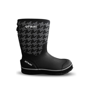 Otway Stroller Mid Insulated Ladies Waterproof Gumboots in Houndstooth Black and White