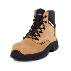 Mack Boots Titan II Wide Composite Toe Cap Electrical Hazard Lace Up Work Boots Honey