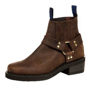 Johnny Reb Classic Short Motorcycle Boot Brown