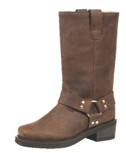 Johnny Reb Classic Long Motorcycle Boot Brown