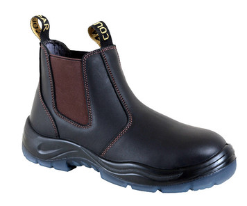 Cougar Jersey Elastic Sided Work Boots with Steel Cap