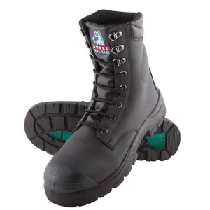 Steel Blue PORTLAND 170mm High Leg Steel Cap Boots With TPU Sole and Bump Cap in Black