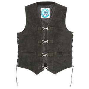Johnny Reb Longreach Suede Leather Vest
