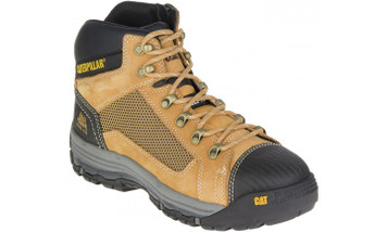 Cat Boots Convex ST Steel Toe Zip Sided Mid Height Safety Boots Honey