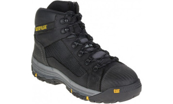 Cat Boots Convex ST Steel Toe Zip Sided Mid Height Safety Boots Black