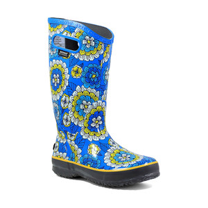 BOGS Rainboot Soft Natural Rubber Womens Gumboots With Pull Handles in Pansie Sky