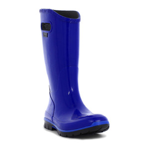 BOGS Berkley Soft Natural Rubber Womens Gumboots With Pull Handles in Blue