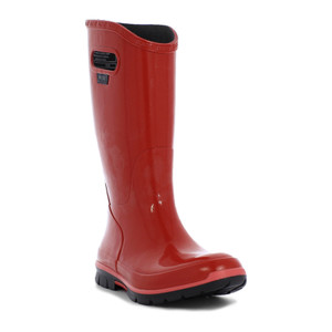 BOGS Berkley Soft Natural Rubber Womens Gumboots With Pull Handles in Red