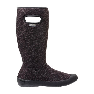 OGS Summit Knit Super Soft Insulated Waterproof Gumboots in Black and Grey