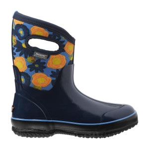 BOGS Watercolour Mid Womens Insulated Waterproof Boots in Dark Blue