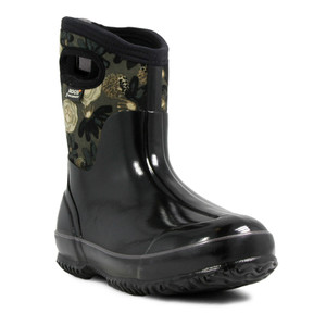 BOGS Watercolour Mid Womens Insulated Waterproof Boots in Black and Multi