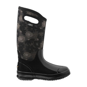 BOGS Watercolour Tall Womens Insulated Waterproof Boots in Black and Multi