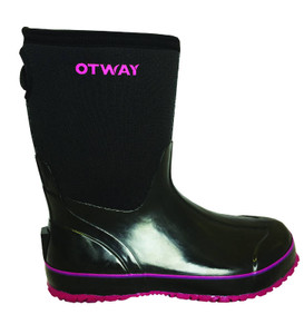 Otway Stroller Mid Insulated Ladies Waterproof Gumboots in Black and Pink