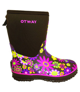 Otway Stroller Mid Insulated Ladies Waterproof Gumboots in Daisy