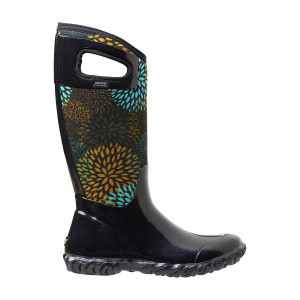 BOGS North Hampton Floral Tall Womens Insulated Gumboots in Black-Multi