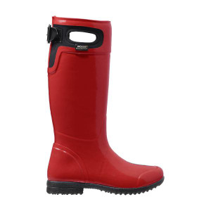 BOGS Tacoma Equestrian Styled Womens Insulated Gumboots in Red