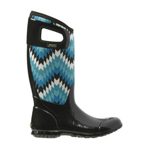 BOGS North Hampton Nat Womens Insulated Gumboots in Black-Multi