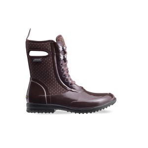 BOGS Sidney Cravat Lace Up Insulated Waterproof Boots For Women in Burgandy