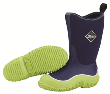 Muck Boots Hale Kids Insulated Waterproof Gumboots in Navy and Green
