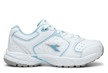 Diadora Flexi Trainer II Womens Trainer Shoe Wht Blue