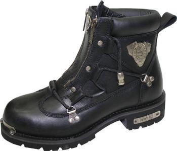 Johnny Reb Rampage Zip Up Motorcycle Boot