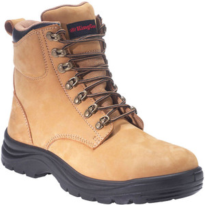 KingGee Cook Wheat Nubuk Leather Safety Work Boots