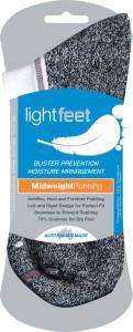 Lightfeet Med Weight Running Sports Socks 6 Pack