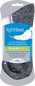 Lightfeet Med Weight Walking Sports Socks 6 Pack