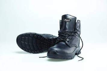 Mack Boots Tradesman, Lace Up Padded Hiking Style Boot with Steel Toe, Black
