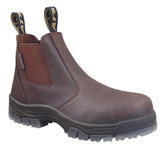 Oliver Boots AT45-627 Claret Elastic Sided Boot with Toe Cap