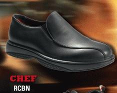 Redback chef, slip on black nappa chef shoe