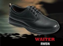 Redback Waiter, Lace up black nappa Waiter shoe