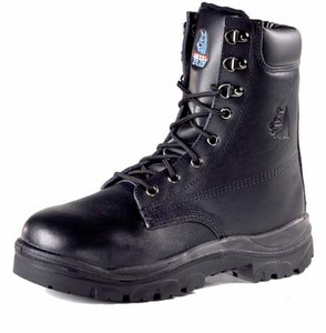 Steel Blue PORTLAND 170mm High Leg Lace Up Boot Black.