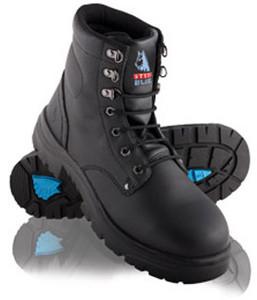 Steel Blue Argyle Met 150mm derby style Steel Toe ankle boot.