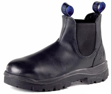 Steel Blue HOBART Elastic Side Non Safety Work Boots, Black