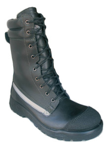 Taipan Structural Fire Boots, Waterproof, Steel Cap, Side Zipper, 10 Inch