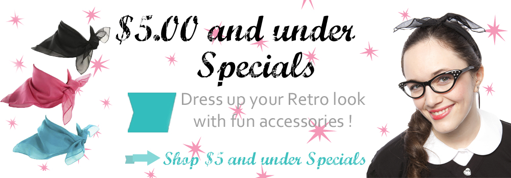 $5 and under Specials