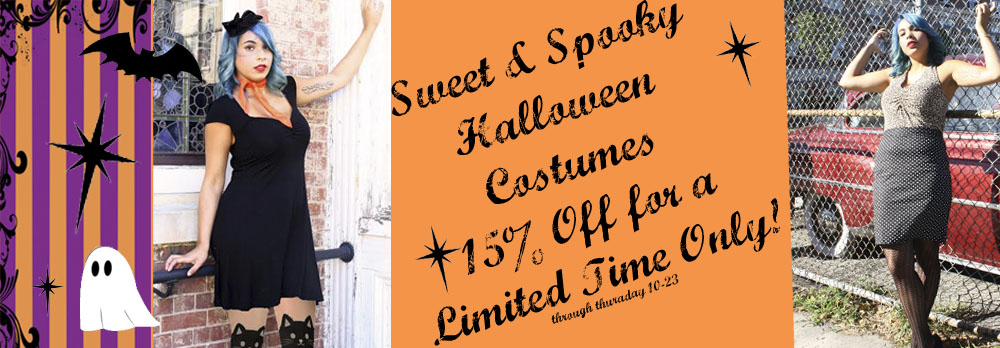 15% Off All Costumes Limited Time Only!