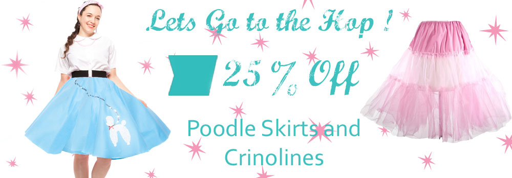 Sale! Poodle Skirts and Crinolines
