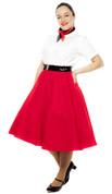 Felt Circle Skirt - Red