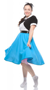 Hey Viv ! Turquoise Circle Skirt