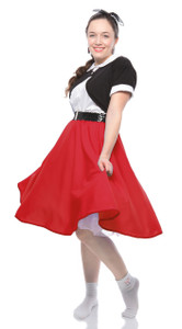 Hey Viv ! Holiday Red Circle Skirt
