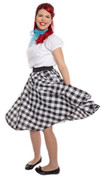 Hey Viv ! Black and White Check Circle Skirt