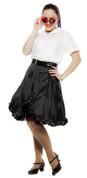 SALE - Black Satin Skirt - Flirty