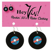 Retro Record Pierced Earrings at Hey Viv !